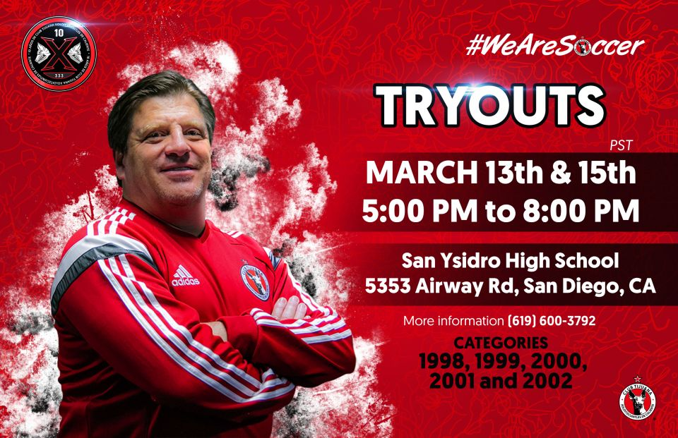 JOE CORONA INVITES YOU TO OUR TRYOUTS