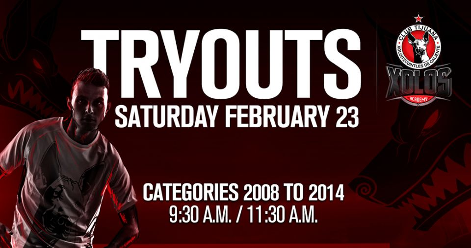 TRYOUTS FEB. 23, 2019