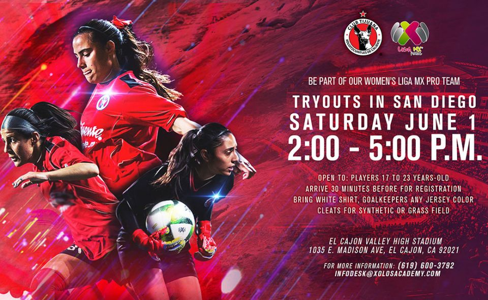 WOMEN'S TEAM TRYOUTS IN SAN DIEGO