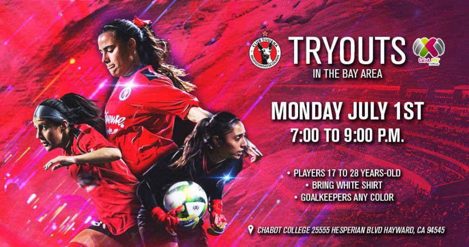 WOMEN'S TEAM TRYOUTS IN BAY AREA